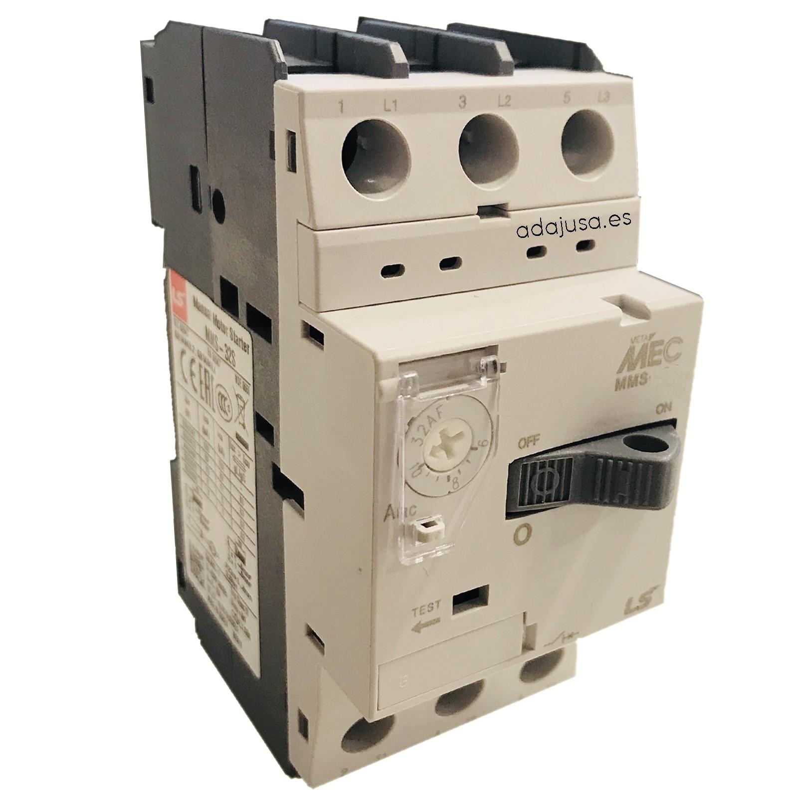 Disjoncteur de protection moteur 1,6 à 2,5 A MMS-32S - LSis