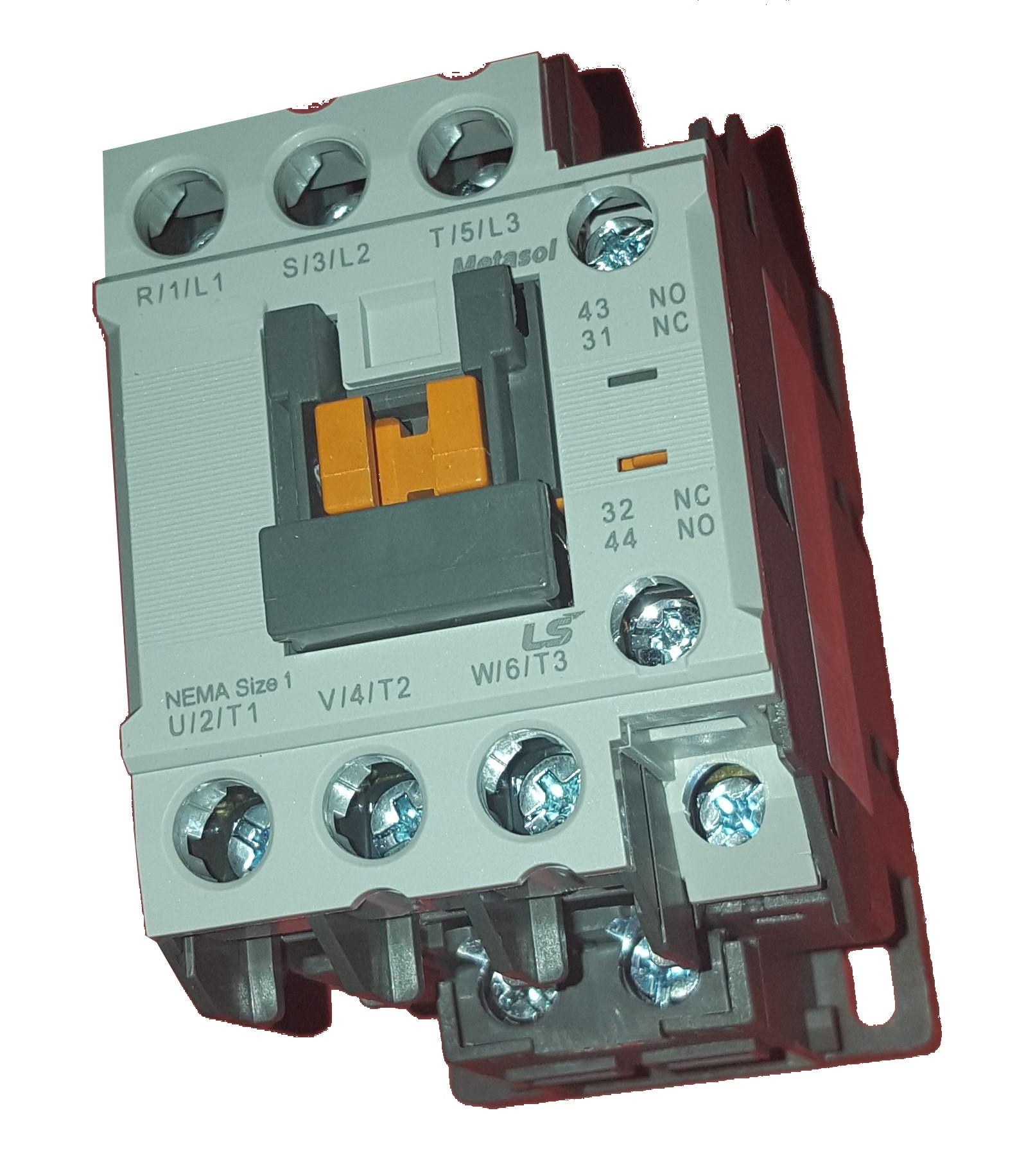 Contacteur triphasé 9 Amp Bobine 230Vac - LSis